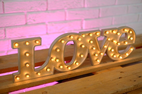 Lights Of Love Wedding Letter Lights Love Light Up Sign Etsy