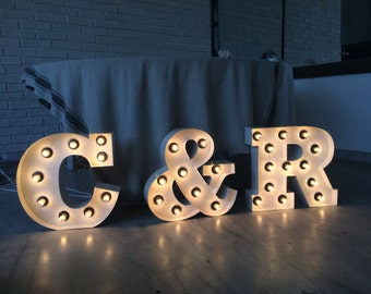 Marquee Lighted letters wedding signs home decor lighted letters