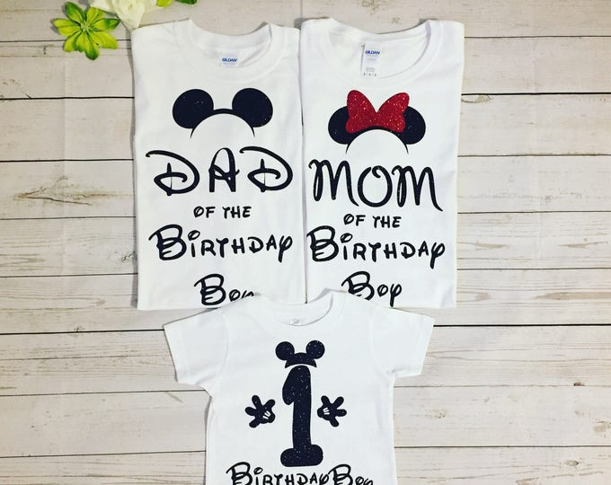 First Birthday Boy Family Matching T Shirts Mom Dad And