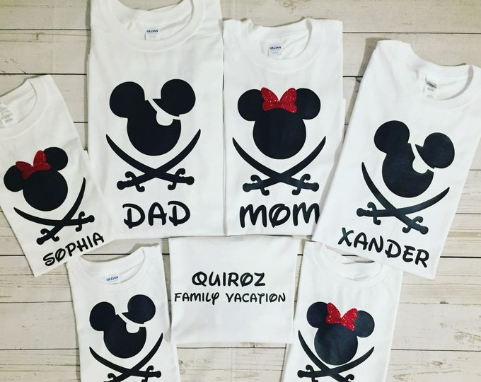 Disney Trip Personalized Family Matching T Shirts Dosney Vacation