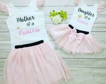 9f525ee5a5 Mother Daughter matching tutu outfits , Mommy and me outfits, Birthday  celebration Mommy and Me outfits