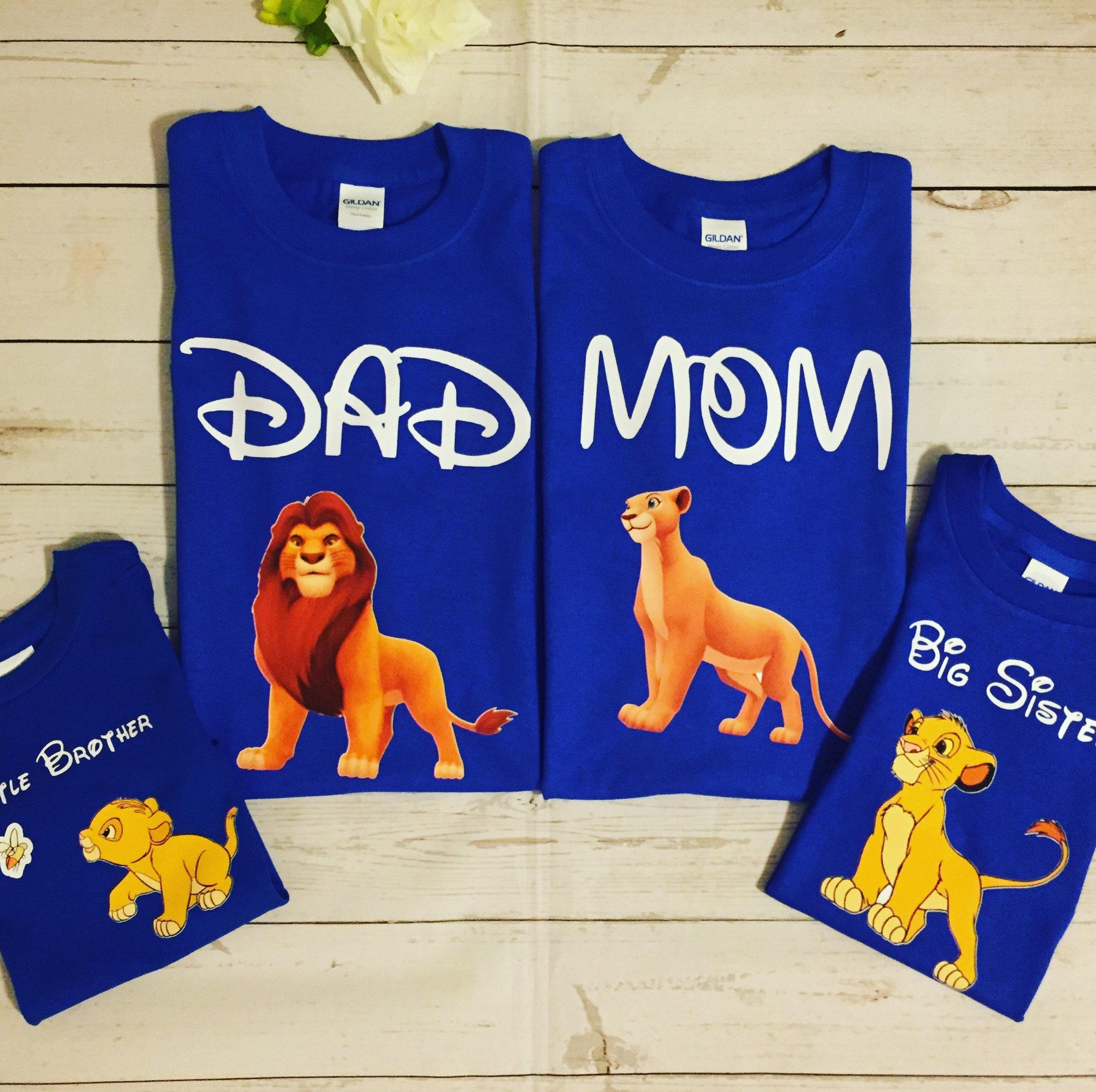 MomDad And Birthday Boy Lion King Family Matching T ShirtsBirthday Disney ShirtsFamily Bundle Shirts