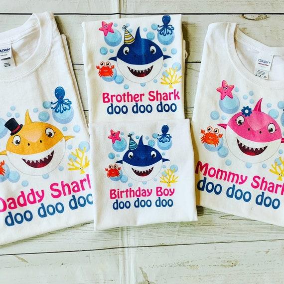 Baby Shark Birthday Baby Shark Family Matching T Shirts Etsy