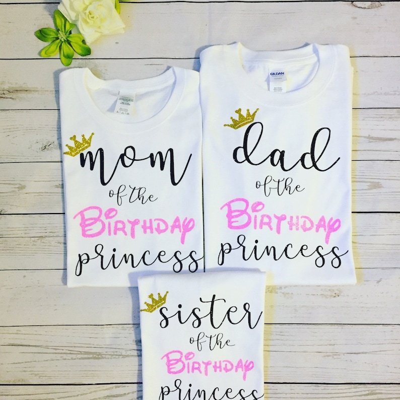 be06ca37 Family matching Mom Dad Sister Brother of the Birthday   Etsy