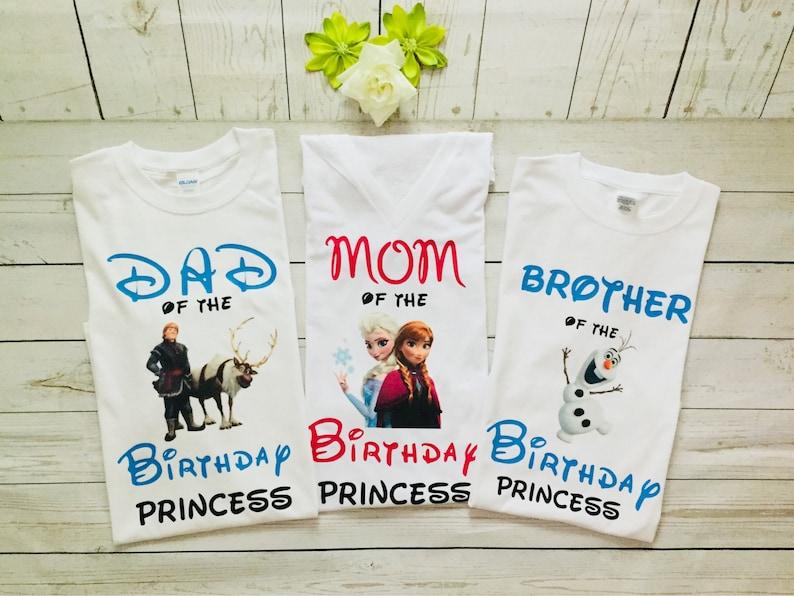 c161e73e Frozen Birthday Princess Family matching T-shirtsFamily   Etsy