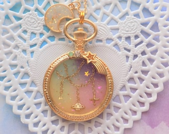 Pastel Twinkle Galaxy Necklace