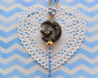 Celestial Star Moon Wand Necklace