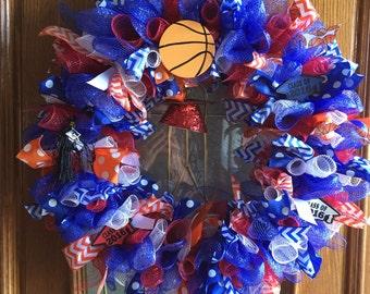 School Sports Themed Wreath