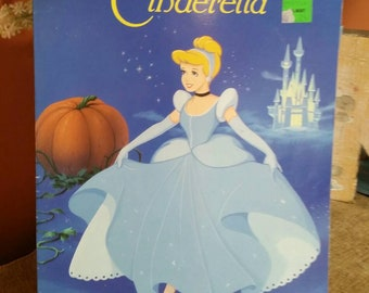 Walt Disneys Classic Cinderella Unused Big Coloring Book Vintage 1991 Disney Princess Upcycle Crafting Project