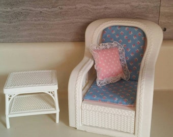 Barbie Dollhouse Lounge Chair/Vintage 1983 Mattel Barbie Chair Set/Barbie  Dreamhouse Furniture/Nostalgic Christmas Gift/Collectible Barbie