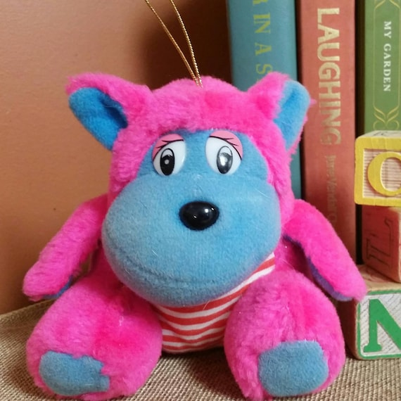 Vintage Carnival Prize Stuffed Animal Pink And Blue Etsy