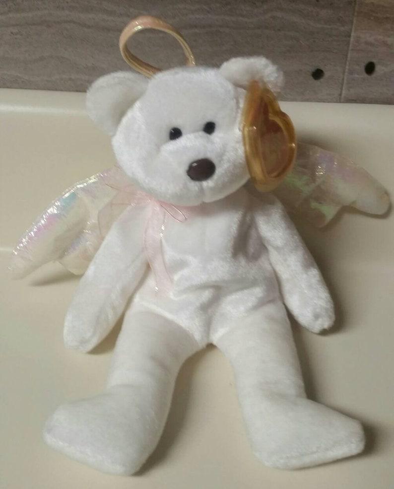 f7e86b9179f Ty Beanie Baby Halo The White Bear Vintage 1998