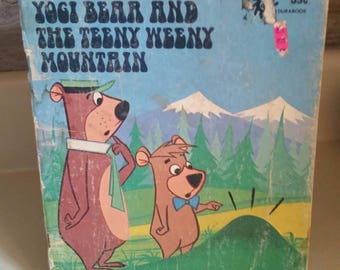 "Hanna-Barbera Authorized Edition Durabook ""Yogi Bear and The Teeny Weeny Mountain"" by Horace J Ellas/Vintage 1974 Childrens Book/Upcycle"