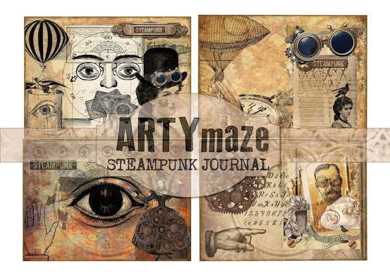 STEAMPUNK Themed Digital journal