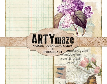 NATURE themed JOURNALING cards & EPHEMERA #1