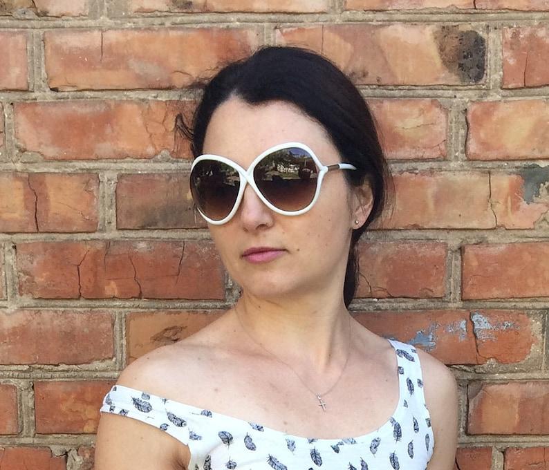 be686661941951 Tally Weijl dragonfly biały okulary przeciwsłoneczne okulary | Etsy