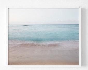 Hawaii Photography,  Abstract ocean print, Pastel Prints , Abstract beach print, Beach Photography, Bathroom Decor, Ocean print, beach print