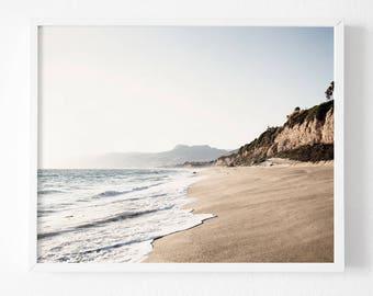 Malibu Print , Printable Ocean Print, California Print,  Beach Wall Decor, Ocean Art Print, Printable Art, Malibu Art Print, Ocean Print