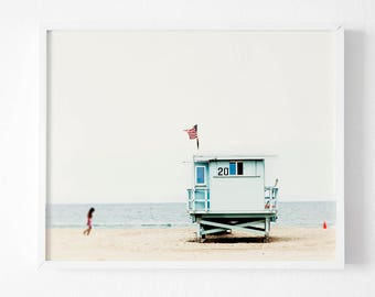 Beach Photography, Wall Art Print, Modern Contemporary, Beach Print, People, Photo, Printable Large Poster, Digital Download, Coastal Decor