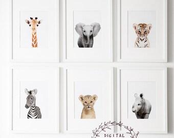 Safari nursery decor | Etsy