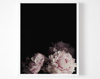 Pink Peony, Peony Fine Art, Photography, Digital Download, Instant, Vintage Peony Print, Pastel Peony Photography