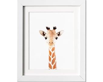 Giraffe Print, Baby Giraffe Print,  Safari Nursery Wall Art, Nursery Decor, Modern Nursery, Baby Shower Gift
