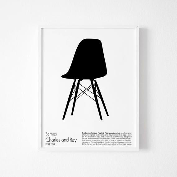 Phenomenal Chair Print Chair Art Eames Chair Print Retro Print Modern Poster Eames Chair Poster Affiche Scandinave Minimalist Wall Art Gamerscity Chair Design For Home Gamerscityorg