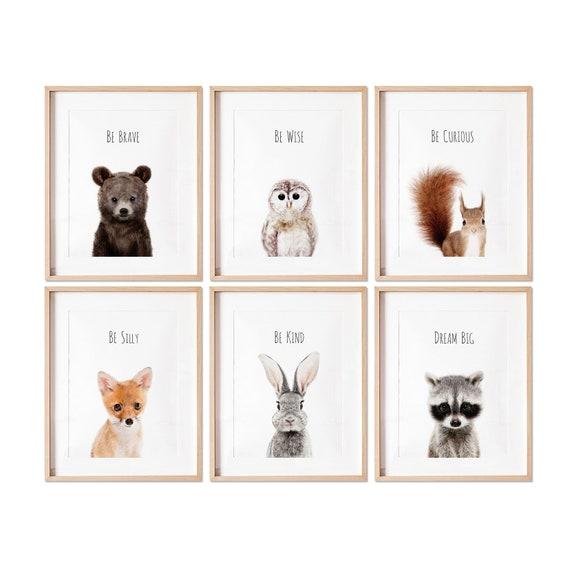 Woodland Nursery Prints Woodland Nursery Decor Baby Animal