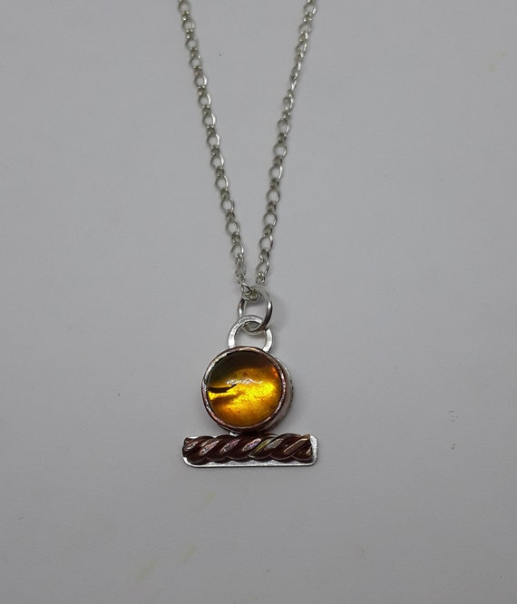 Shen Necklace Amber Shen Necklace Mixed Metal Shen Egyptian Etsy