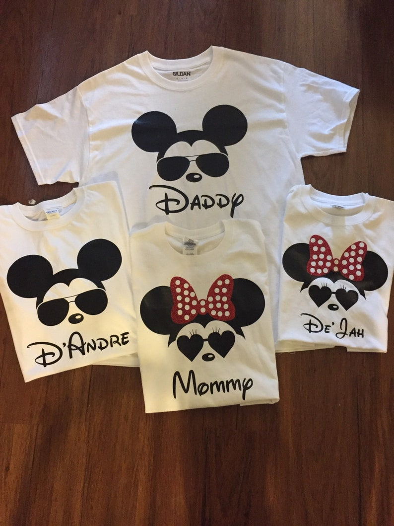 a8064b8e1921 Disney Minnie and Mickey Mouse Matching Family T-Shirts Baby | Etsy