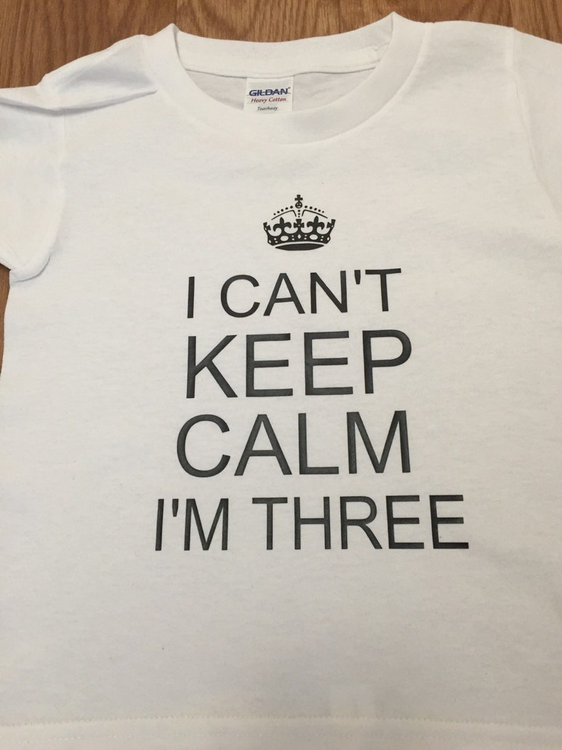 I Cant Keep Calm Im Three T Shirt 3rd Birthday
