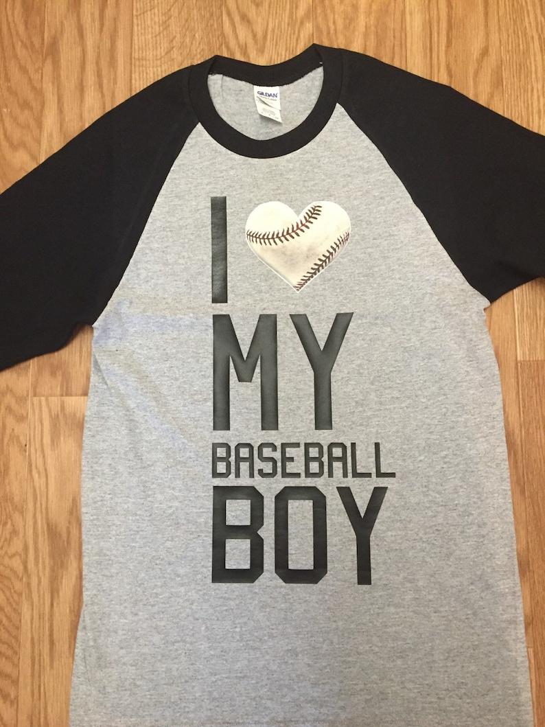 787d6175 Baseball Mom Shirt I Love My Baseball Boy Raglan Baseball | Etsy
