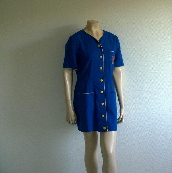 Vintage dress//Blue Dress