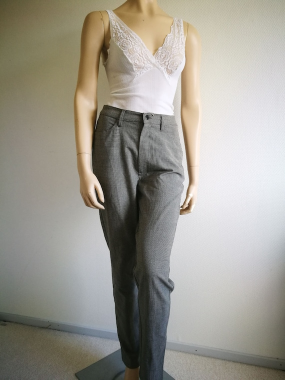 Vintage boho 90s pants high waist Cigarette pants