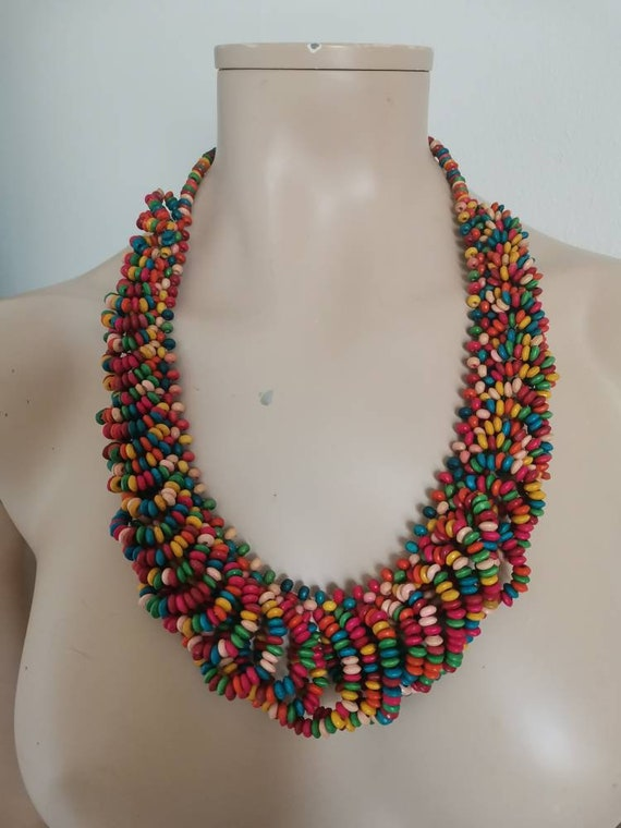 Chunky necklace//Multicolored BiB necklace