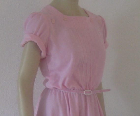 Vintage 70s dress Flirty Vintage tea dress Pink Se