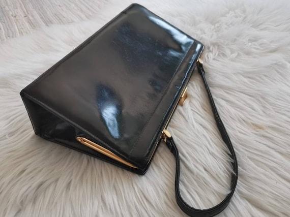 50s bag//top handle mad men bag