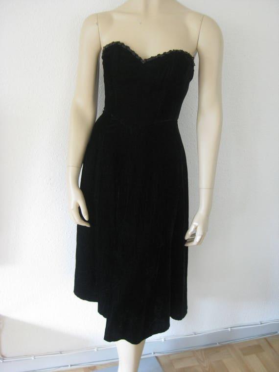 Vintage 90s dress//STRAPLESS Corset Dress