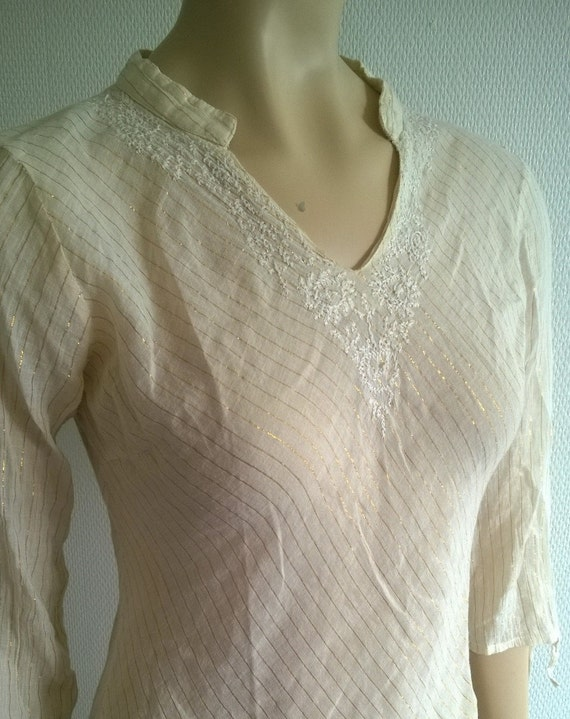 Vintage dress Tunic//Cotton kaftan