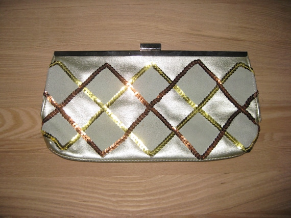 Sequin 90s clutch//Vintage Sequin Purse