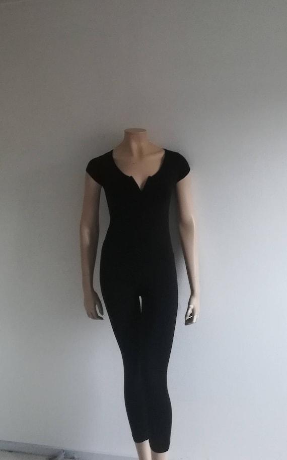 90s Black Onepiece//Catsuit Jumpsuit