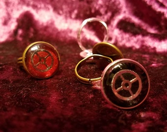 Steampunk Inspired Gear Statement Ring