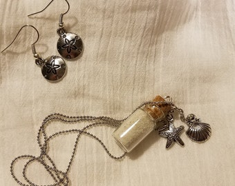 Beach-Lover Earring and Necklace Set