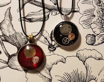 Steampunk Inspired Gear Necklace