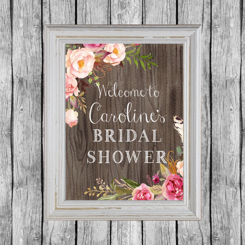 Rustic Bridal Shower Sign Bridal Shower Door Decoration Etsy