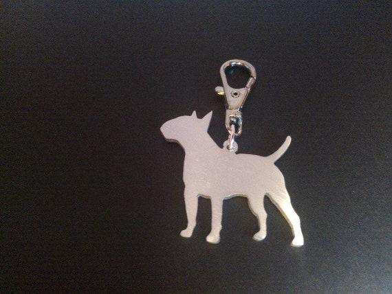 English bull terrier keyring keychain handmade by saw piercing  93bcca5090ad