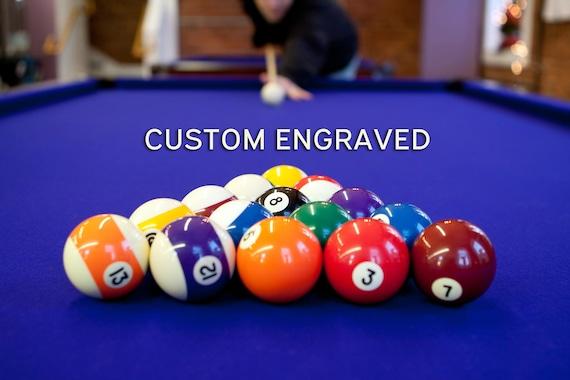 Custom Engraved Pool Ball Set Personalized Birthday Or Christmas Gift