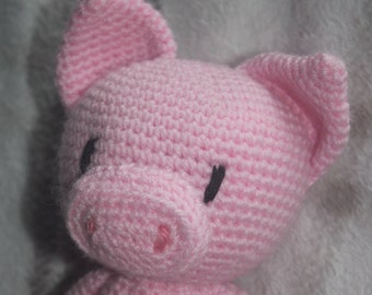 made to order Crochet Percy pig