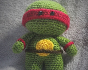made to order crochet ninja turtle