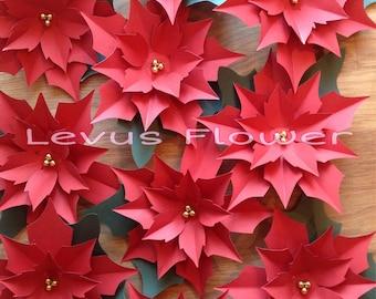 Giant poinsettia etsy large paper flowersgiant paper flowerspaper poinsettiachristmas decorationpaper flower backdroppaper christmas paper flowerspaper mightylinksfo